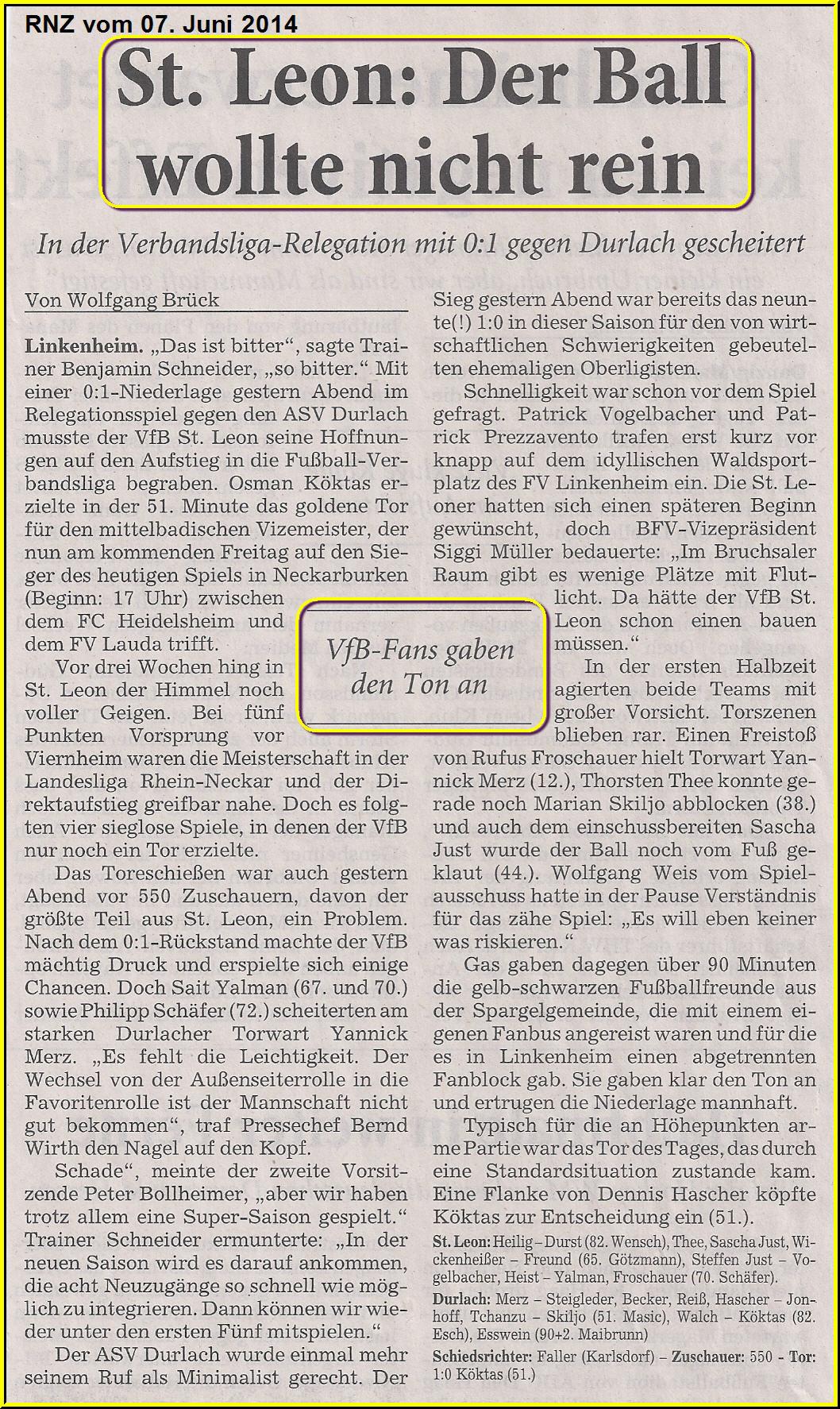 Vfb st leon 1967 e v presse 2013 2014 zur ck zu vfb 2014 - Div style float left ...